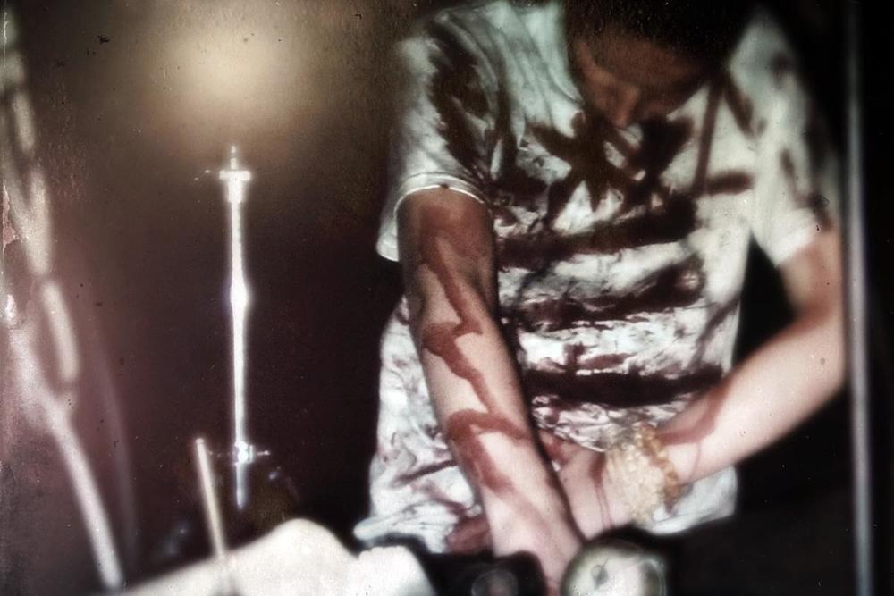The blood-initiation of Akiz into HALO MANASH.