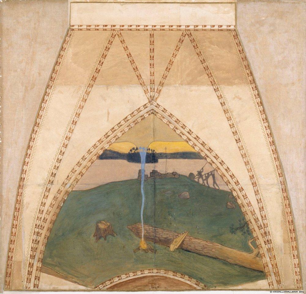 Akseli Gallen-Kallela, Pakanuus ja kristinusko, 1899.
