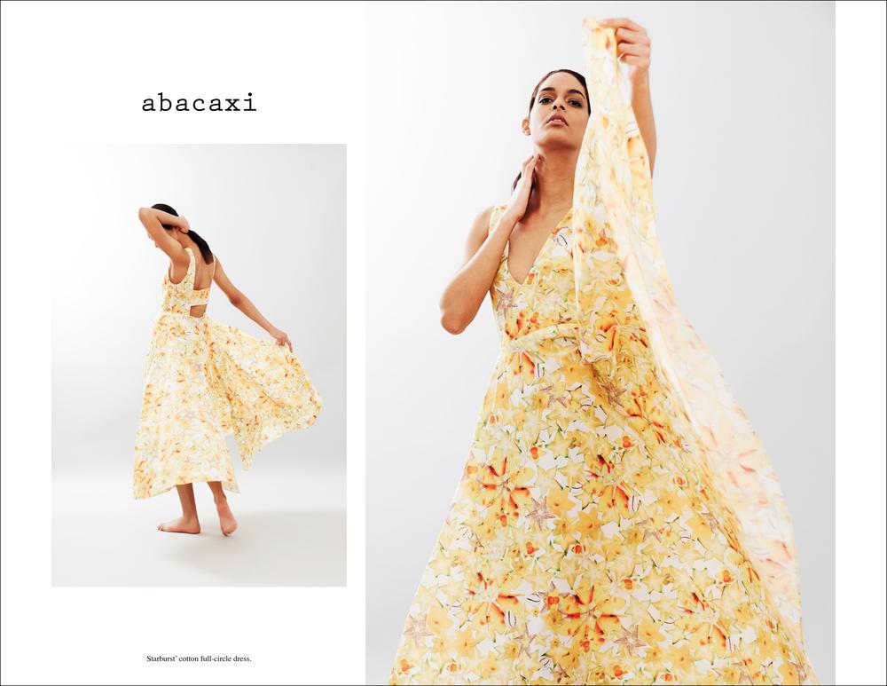 abacaxi Starburst' cotton full-circle dress ver2.jpg