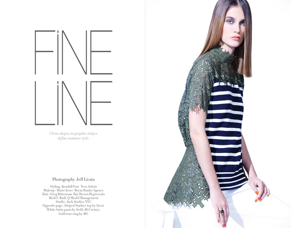 Fine Line Styled by Kendall Farr page one