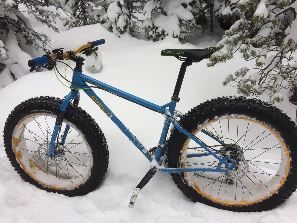 The Fatbike Paradox: they stay upright until you ride them.