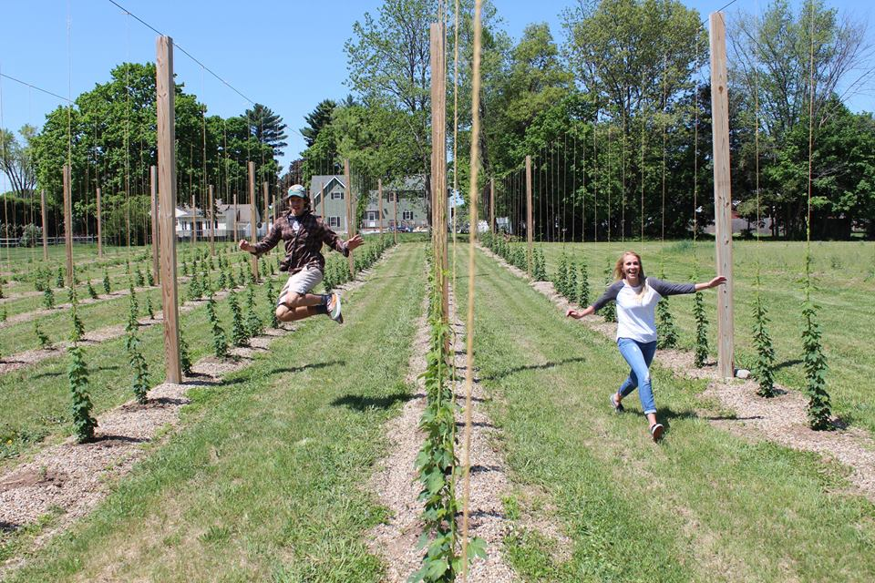 Frolicking in the hop yard