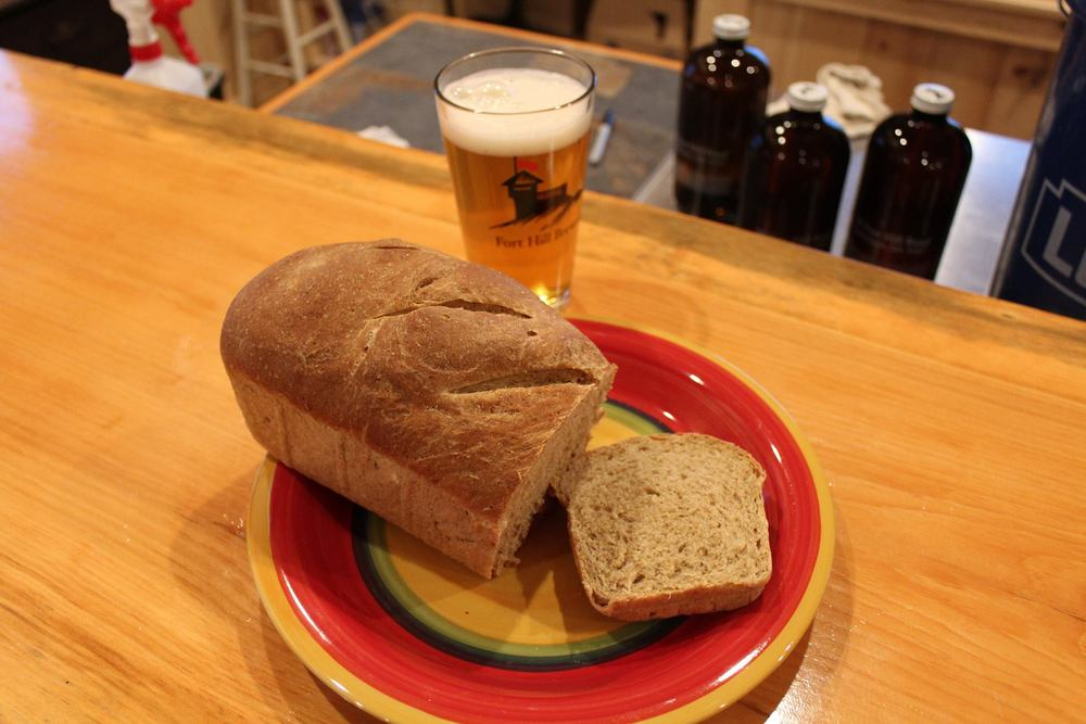 Our neighbor baked this bread using our lager yeast rather then baker's yeast.