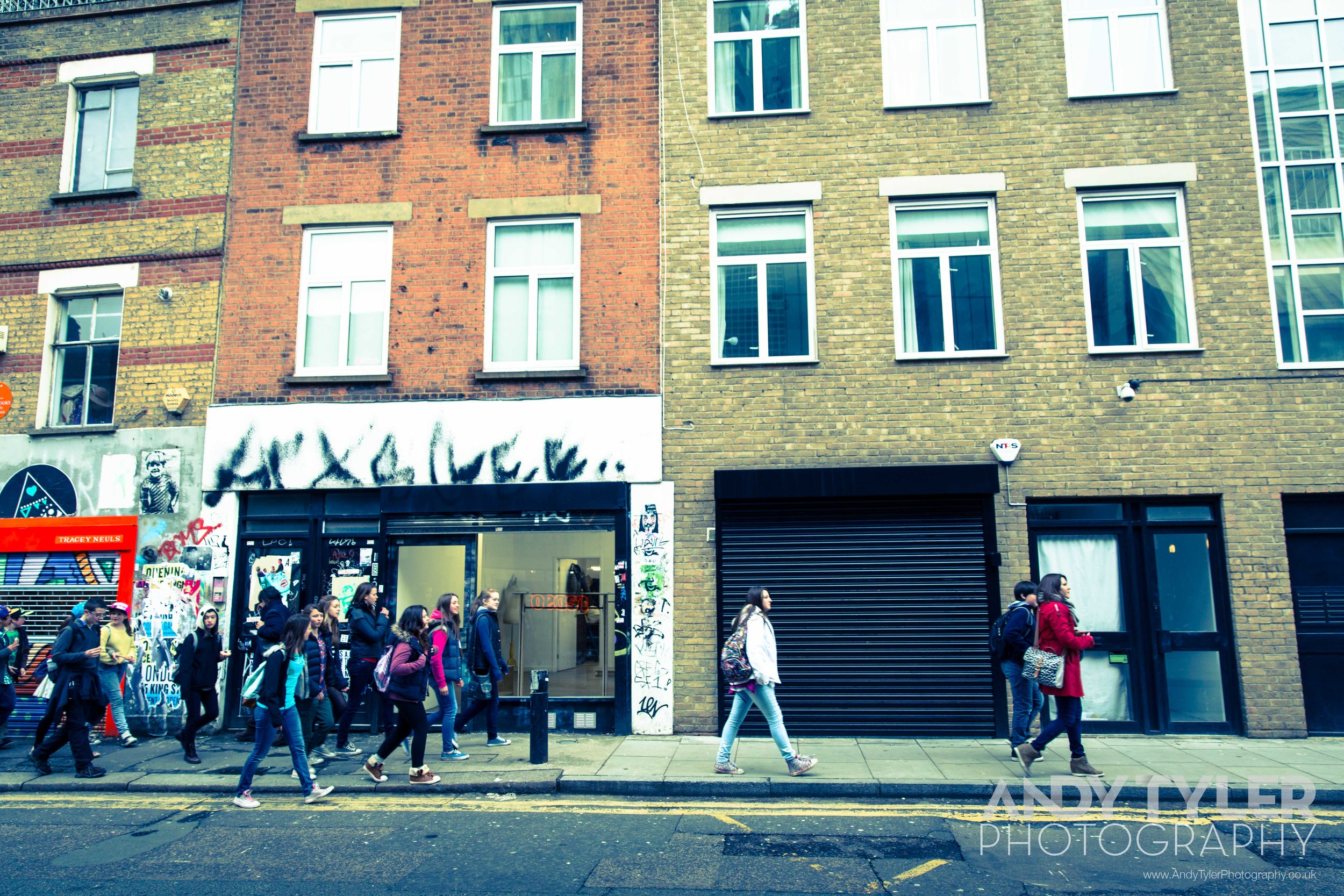 The Walk.Eat.Talk.Eat. tour gets going through the streets of East London