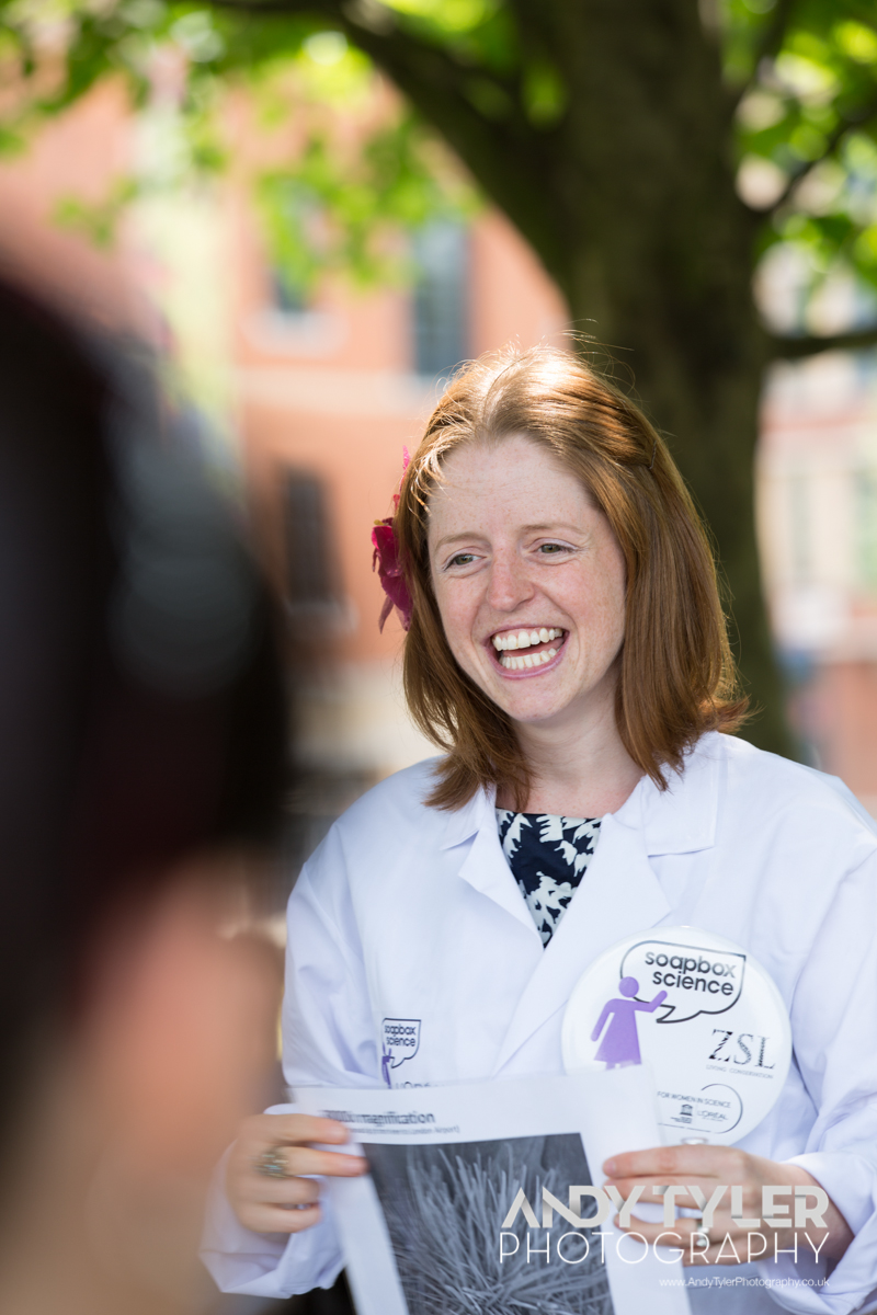 Dr Zoe Schnepp at Soapbox Science