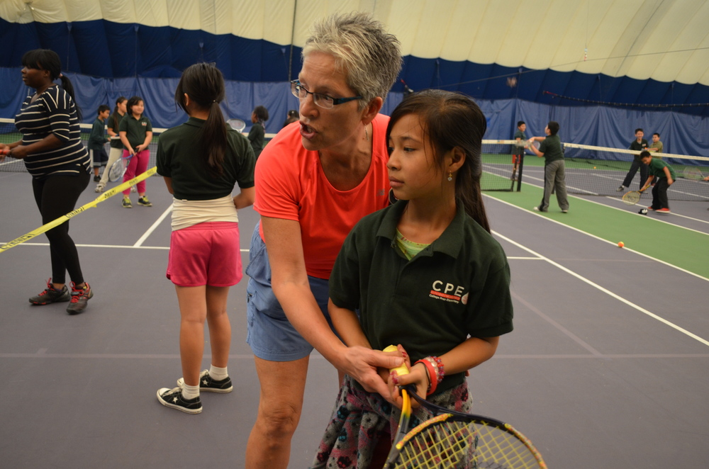 Judy Long is citizens of the court program coordinator, women's daytime league coordinator and a tennis instructor at Fred Wells Tennis & Education Center, a premier St. Paul tennis facility and youth development program offering tennis lessons, classes, leagues, teams, summer camps and youth development programs.
