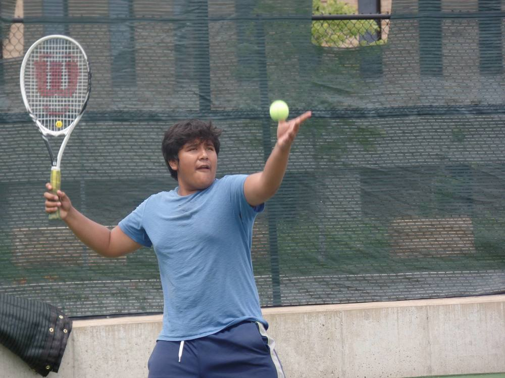 Boys Leadership Team is a tennis and life skills program for 6th-12th grade boys; participants come to our St. Paul tennis facility for tennis instruction as well as discussion-based classroom sessions and community work.