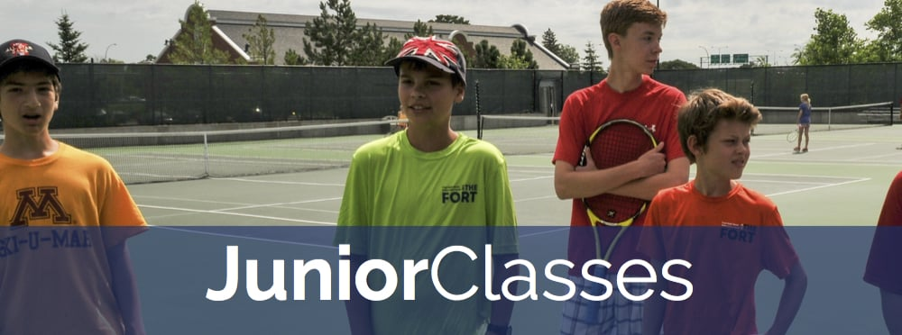 Our St. Paul tennis facility offers many ways to play for juniors of all ages and abilities--including tennis lessons, classes, leagues, teams, tournaments and summer camp.