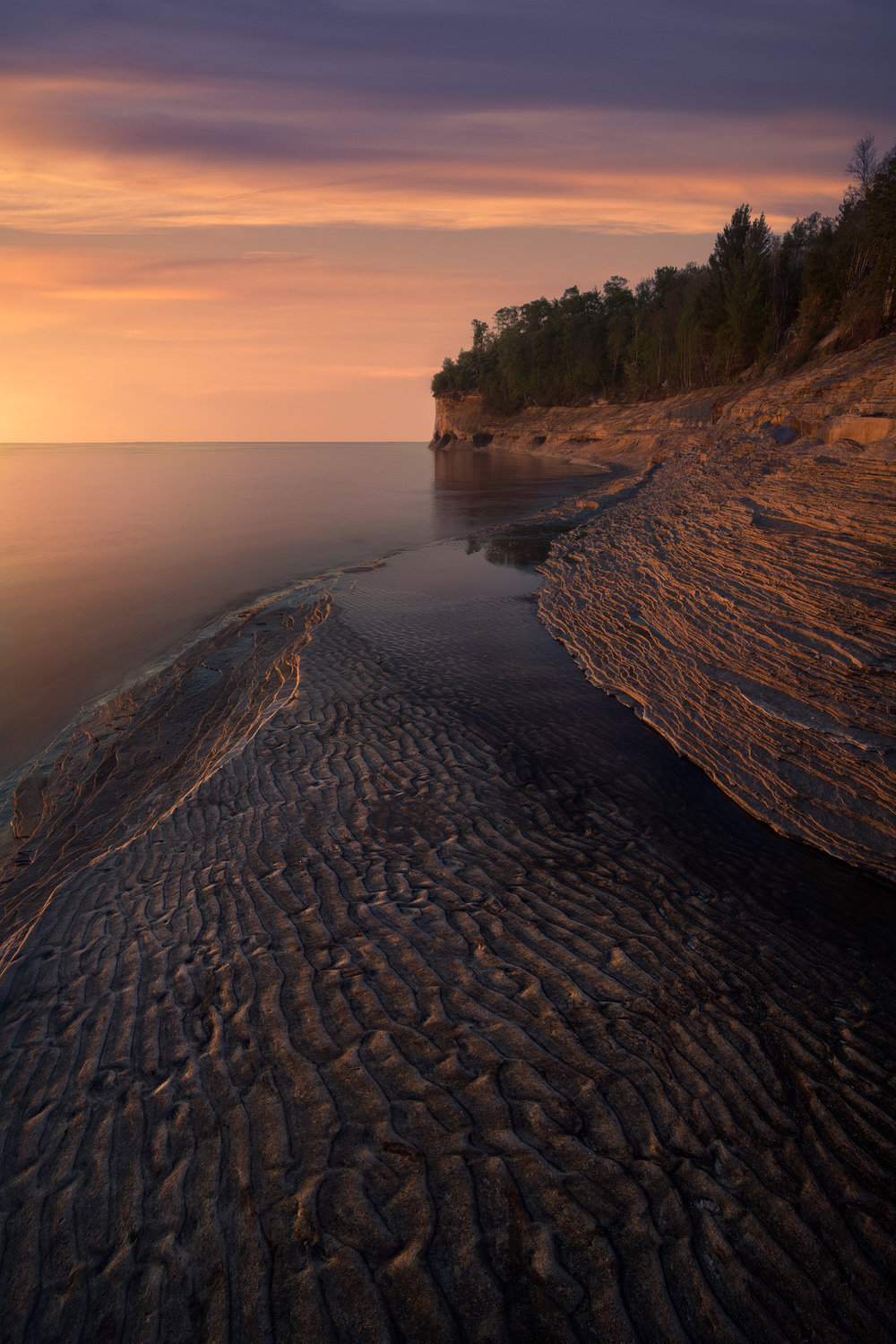 """Jurassic Coast""     Irix 11mm, Pictured Rocks National Lakeshore 2018"