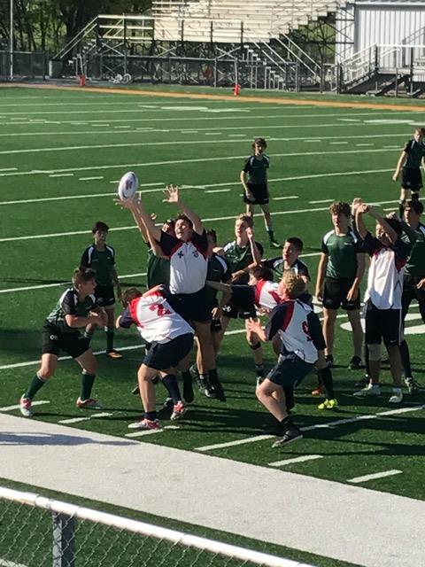 James Laprocido winning a lineout against the Woodlands pack