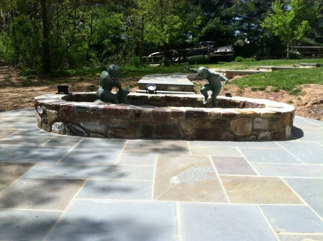 Entertainment Patio - Stone Pond