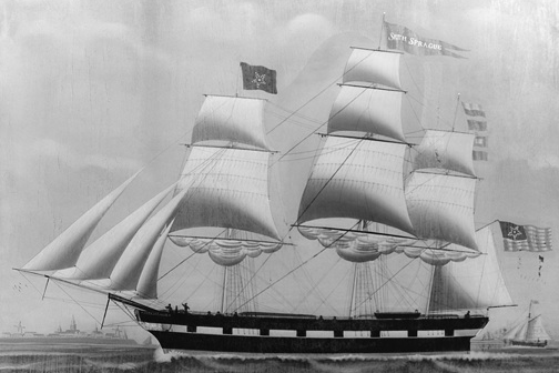 Ship Seth Sprague, Captained by Alexander Wadsworth, 1850