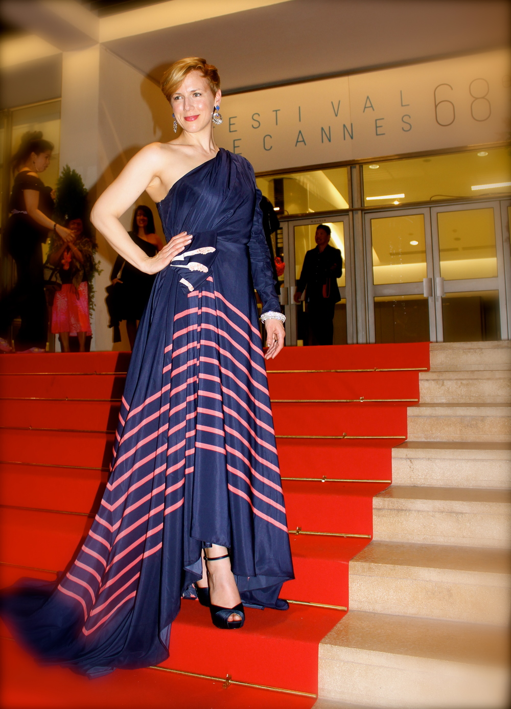 Grace McPhillips in Red Carpet Gown by Veronica Sheaffer