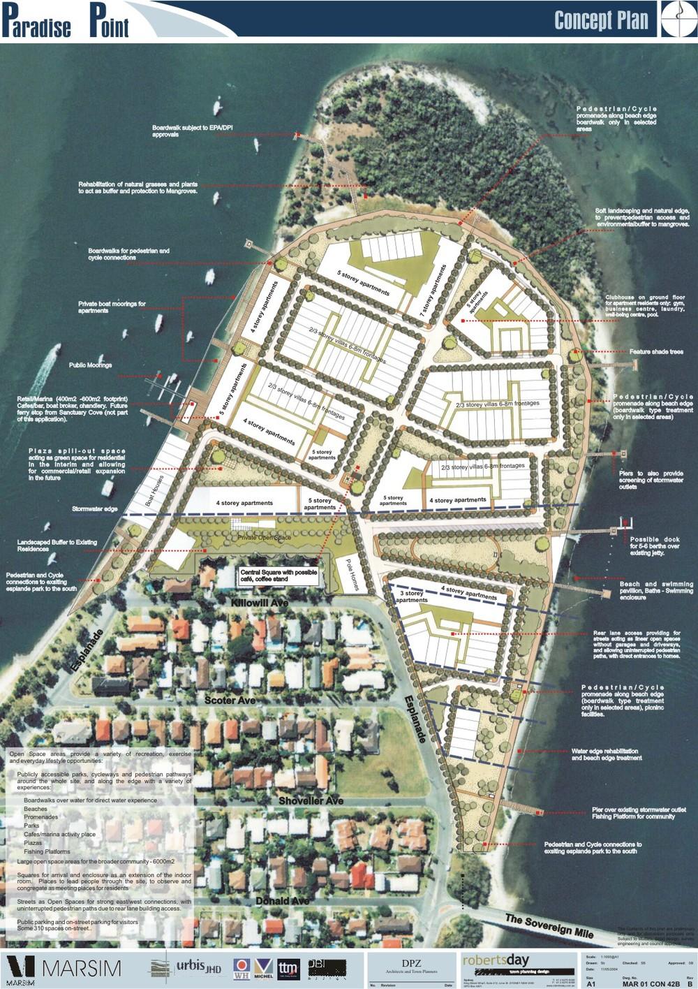 Paradise Point masterplan