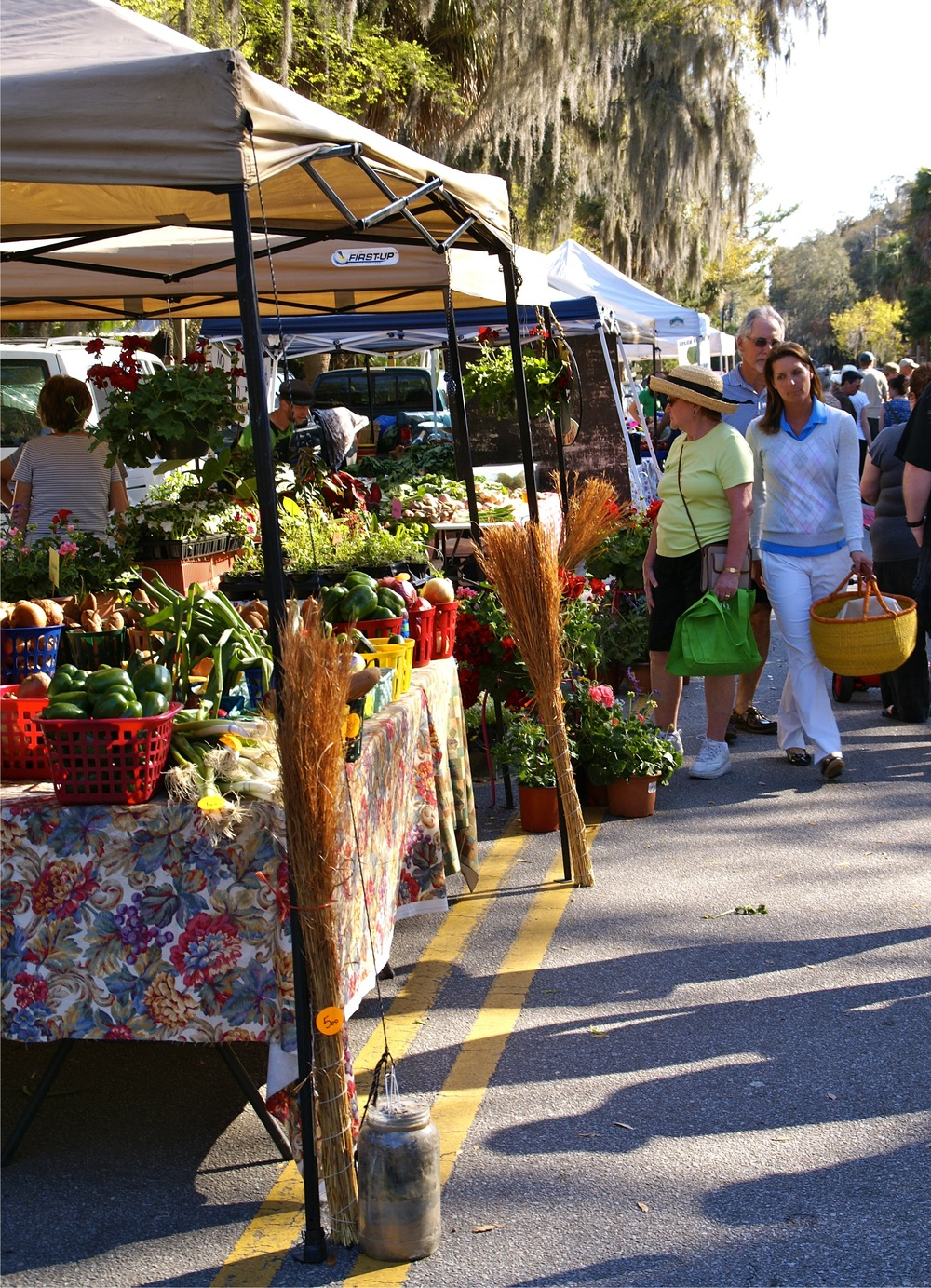 Farmers markets, like the one in downtown Bluffton, provide communities access to local food direct from the growers.