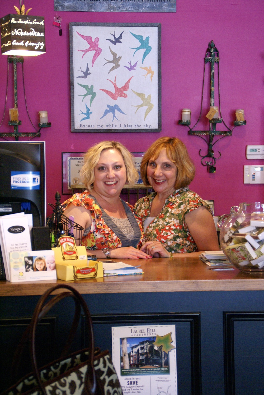 Shopgirls Allegra Craig and Cheryl Hunter of downtown Beaufort's Joli Home & Events depend on a strong local economy.