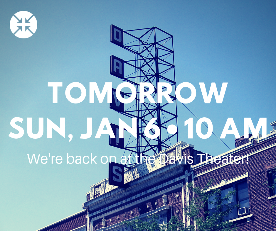 Tomorrow • Sun, Jan 6 • 10 AMWe're back on at the Davis Theater!-1.png