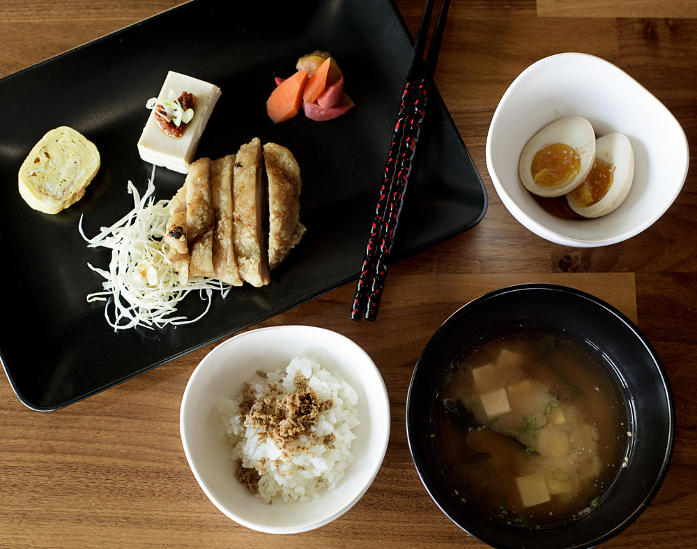 Photo of: OISA ramen breakfast plate. / Photo by: Yoonjoo Kim (all rights reserved)