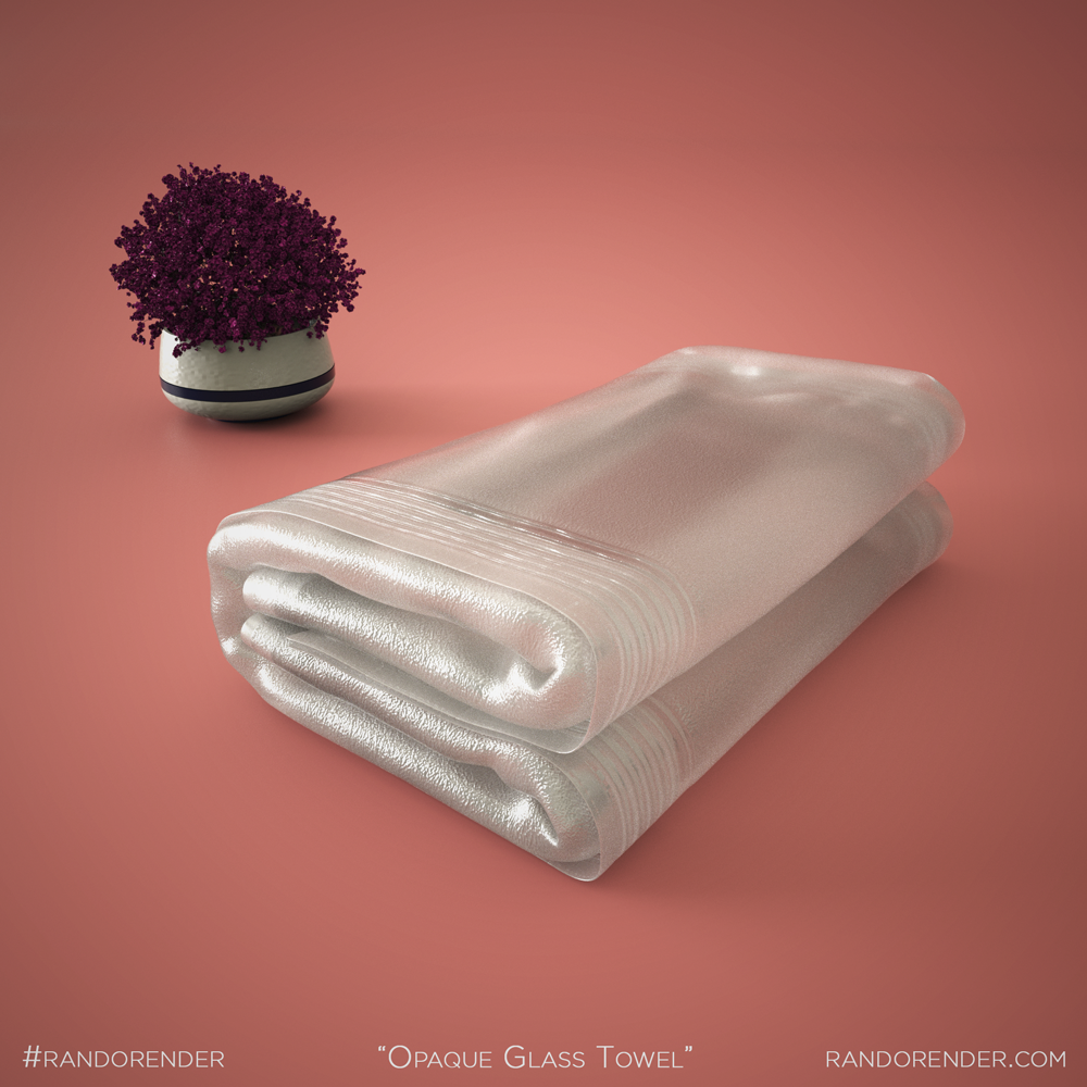 Opaque Glass Towel