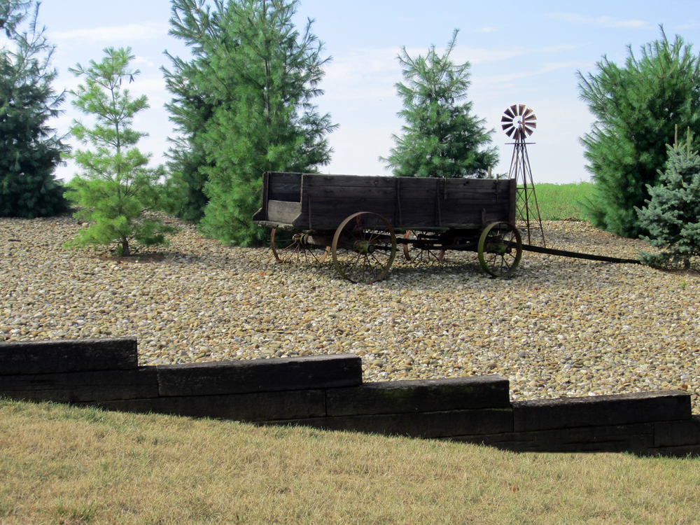 Landscape gravel display