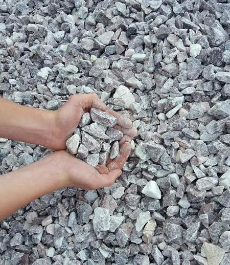 pink landscape gravel