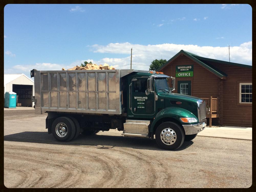 firewood load woodland mulch