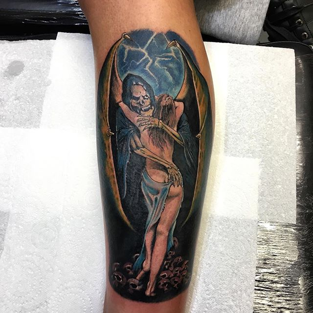 Done today by @andysyme_crossroadstattoo
