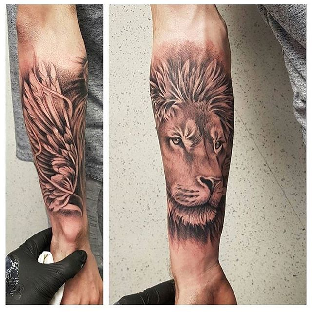 Done by @jamie_adair  sponsored by @barber_dts  #lion #tattoo #tattoos