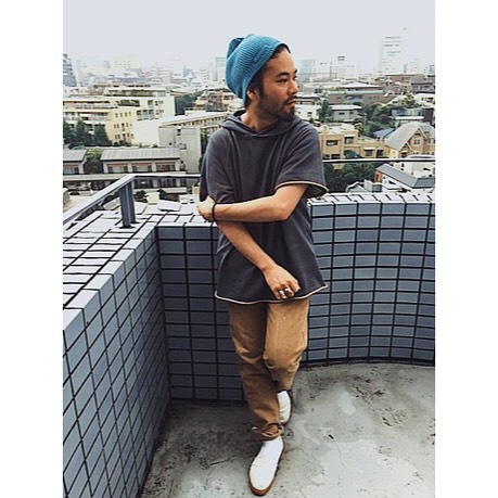 07/14/15 2:33pm : one of the coolest guys we know, Tany (@taniatsuhito) , field testing the original of the currently in production jack/knife duck canvas jean on the rooftops of japan.