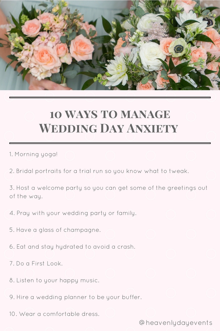 Managing wedding day anxiety by Austin Wedding Planner, Heavenly Day Events.