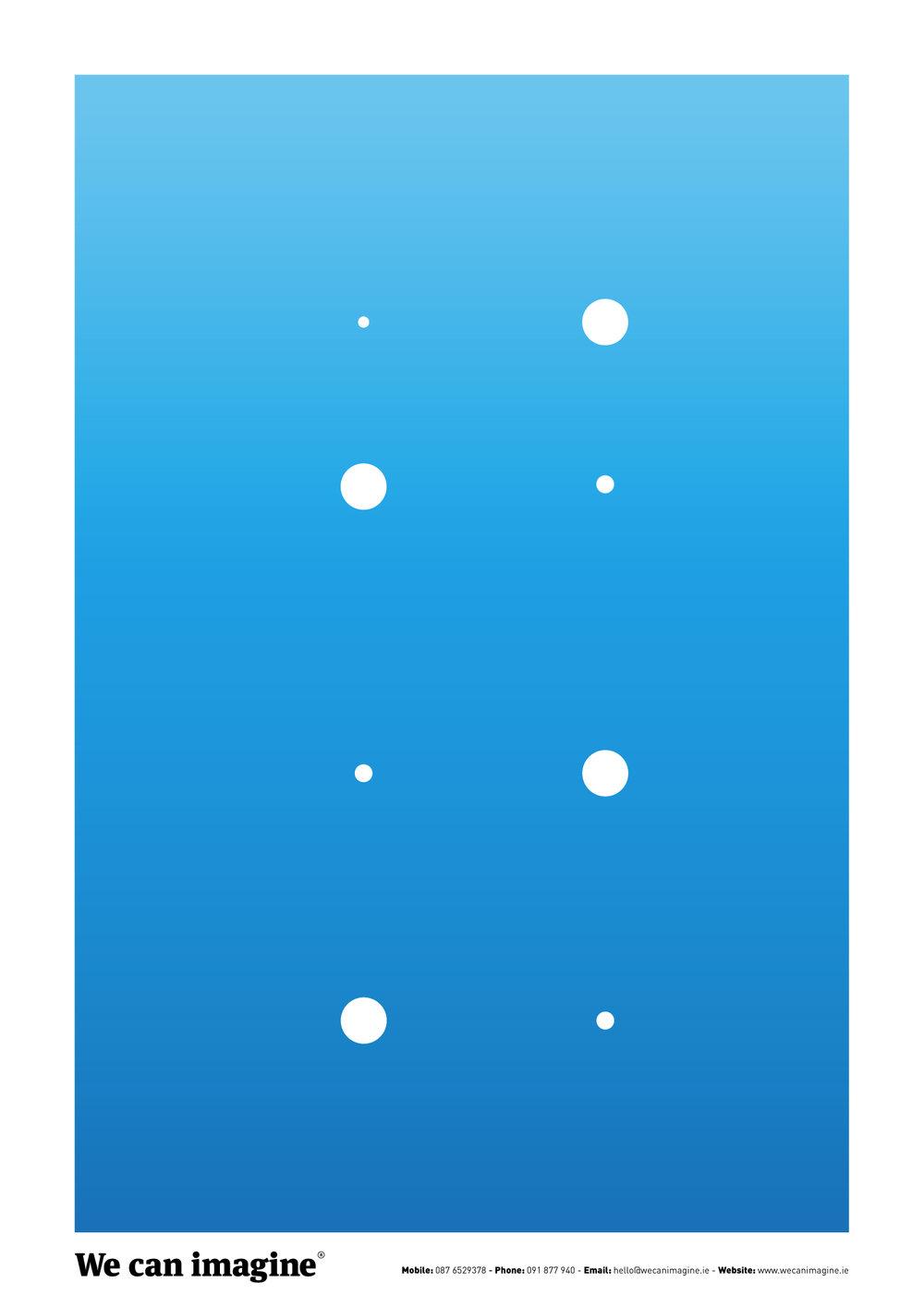 Graphic design golden grid poster