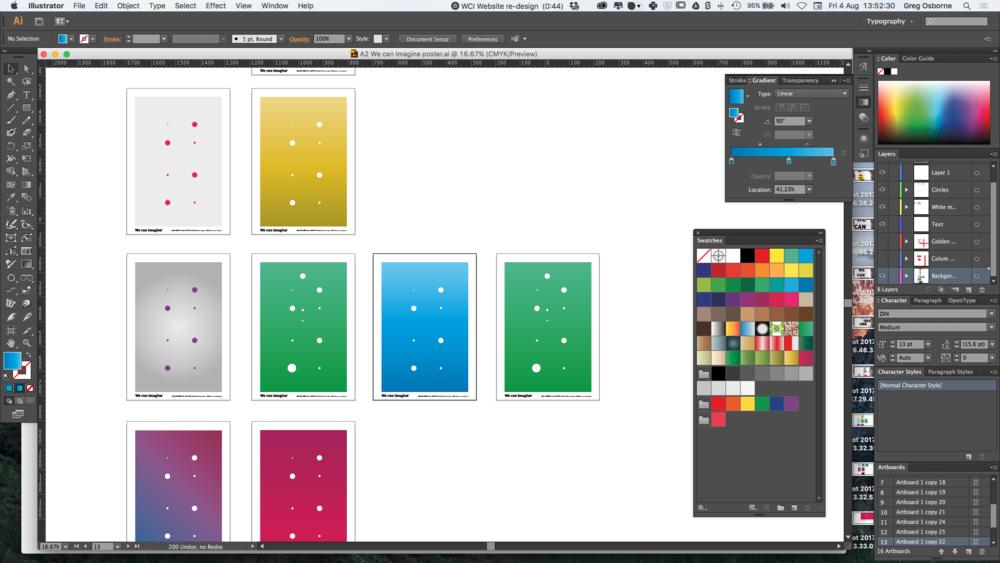 Graphic designers design process.