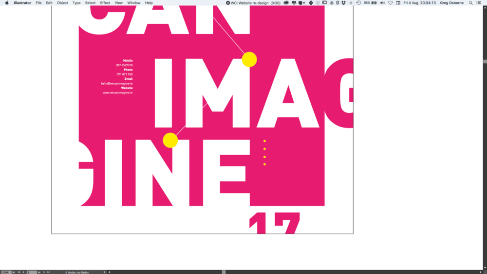 Graphic design poster process created in Galway