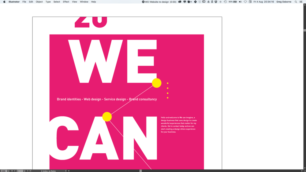 Screen shots of Graphic design poster