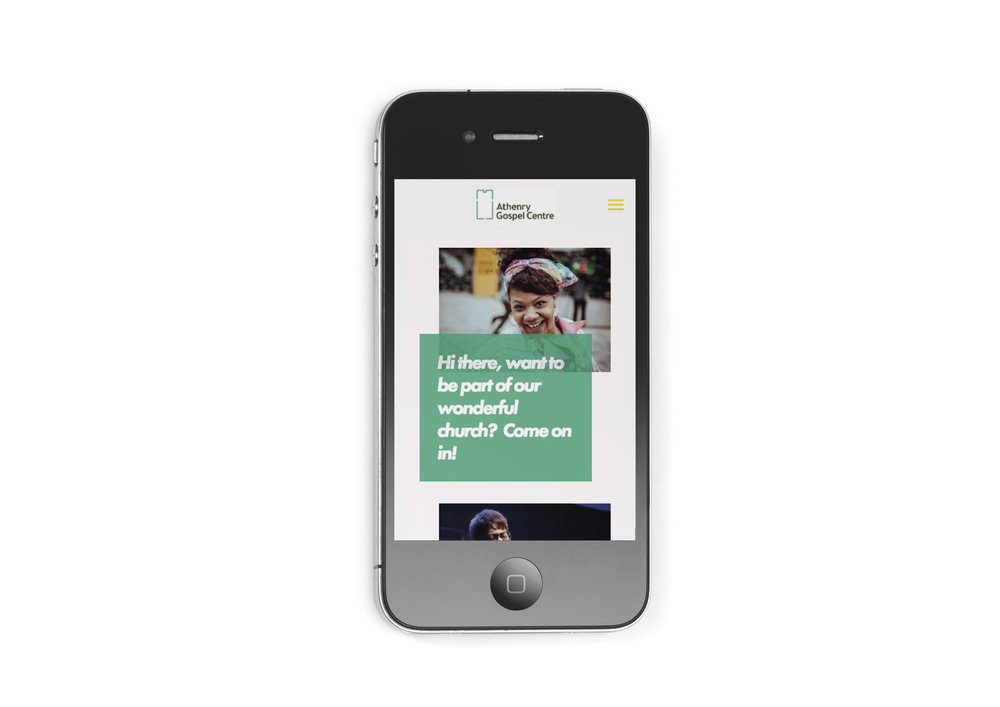 Mobile version of Squarespace site