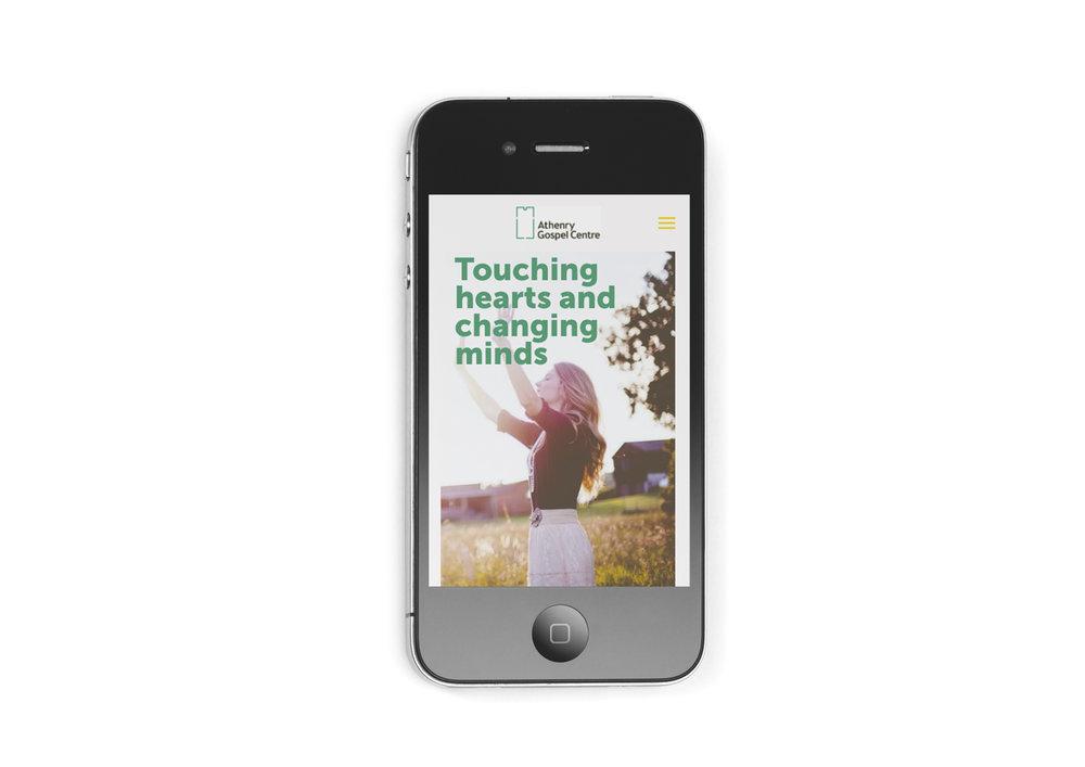 Mobile Squarespace website