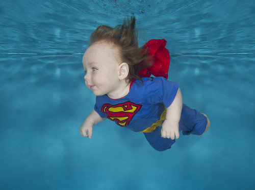 Super baby underwater this is one of our costumes so you can try this shot