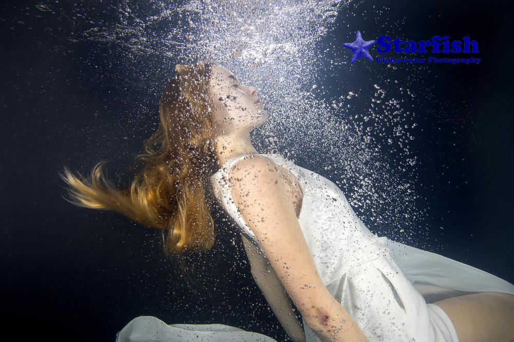 underwater photo shoot