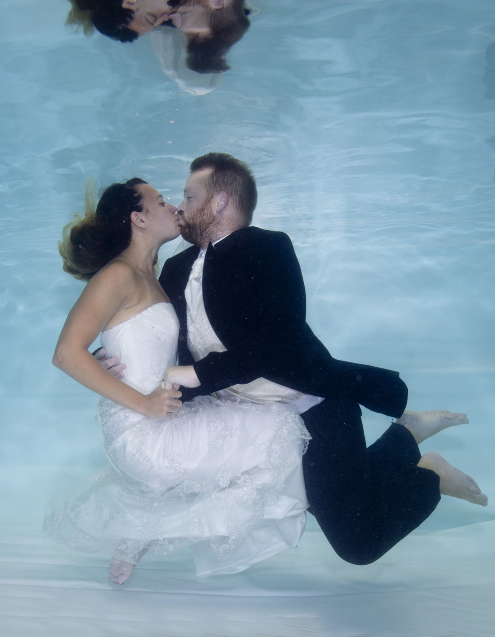 Becky and Keith celebrated their wedding anniversary in the only way swim school owners could!
