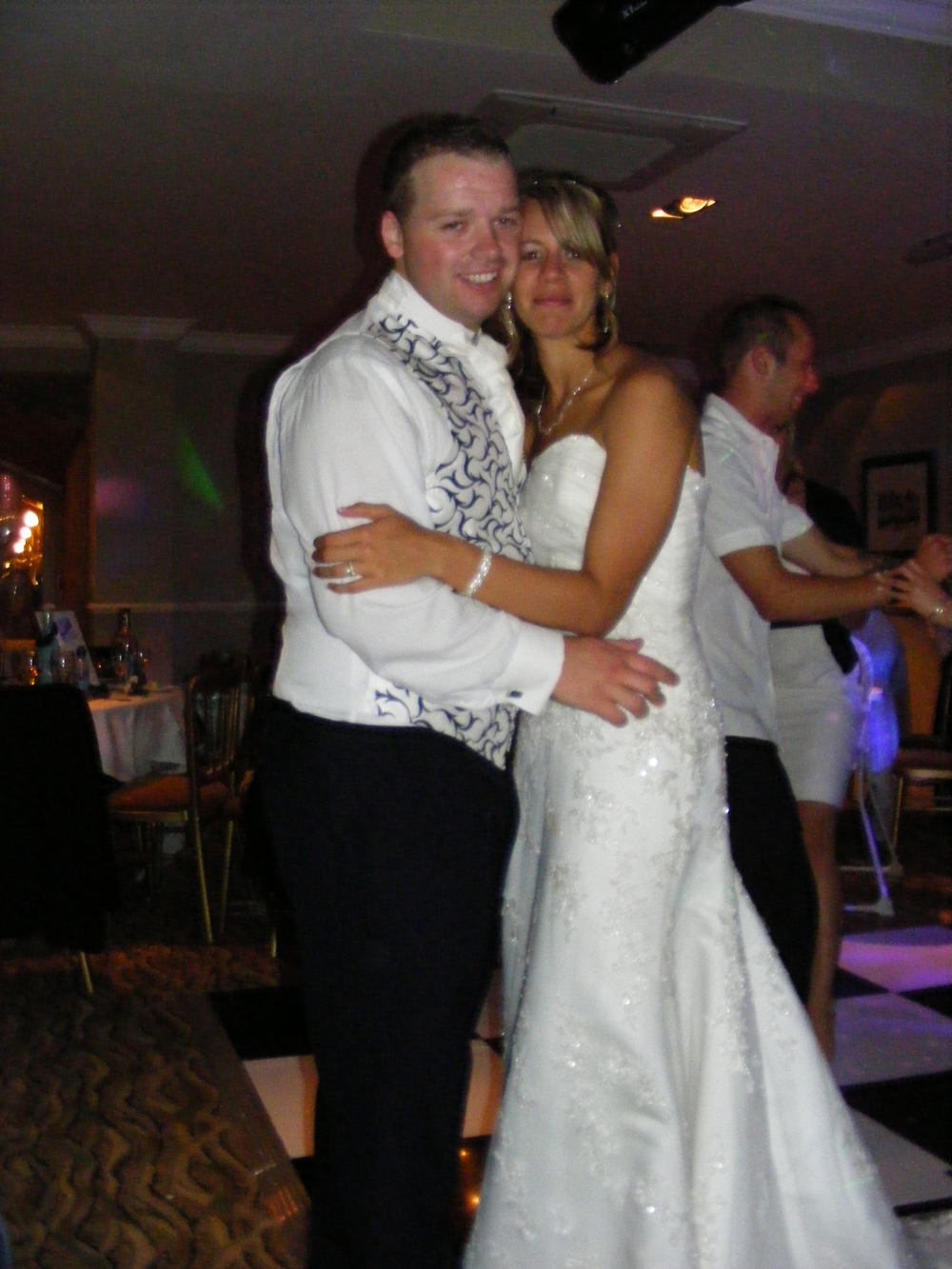 Becky and Keith at their actual wedding 6 years ago.