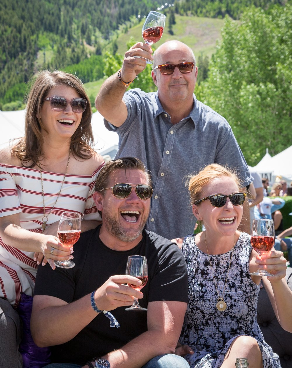 Gail Simmons, Andrew Zimmern, Tyler Florence and Christina Tosi at the 2017 FOOD & WINE Classic in Aspen