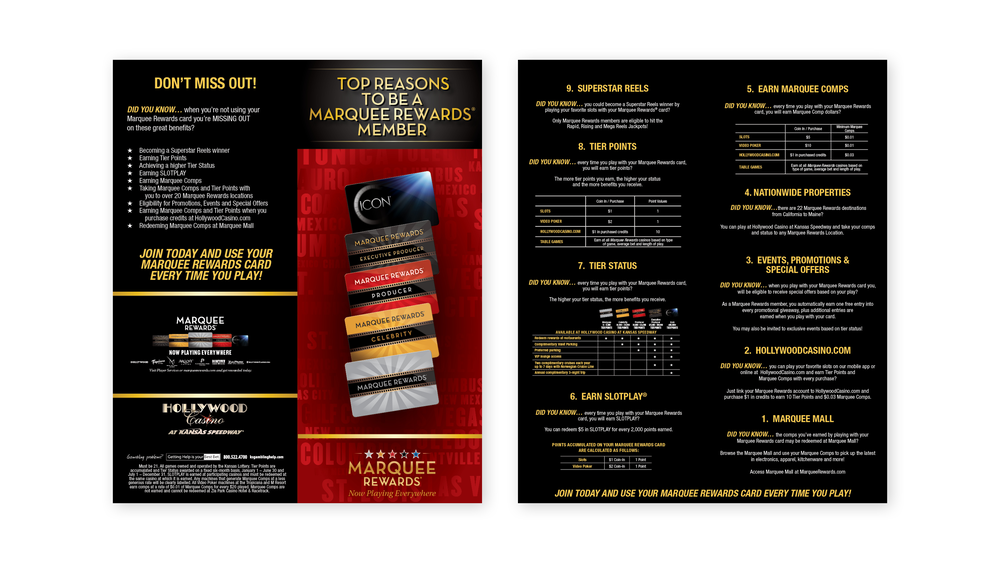 Marquee Rewards Top Reasons Brochure