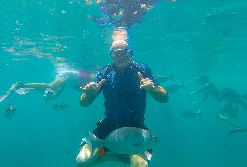 Uncle Al making new ocean friends
