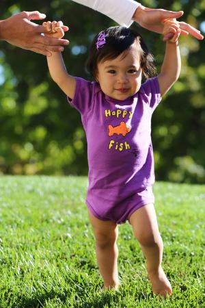 Happy Fish Baby Onesie