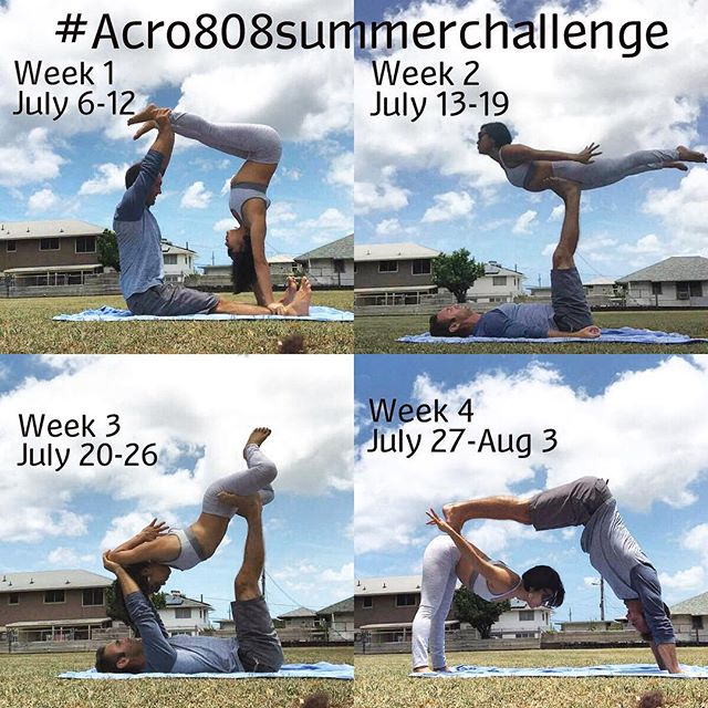 Challenge starts today! Check in with @acro808 later today to see this weeks pose. Happy Fish is supper pumped to be a sponsor for the @acro808 yoga challenge that starts tomorrow read below!  The #Acro808summerfun challenge is a Acro yoga challenge sponsored by some of Hawaii's leading local businesses. This challenge was created to inspire play, unite us, and build a stronger community.  It's simple...4 poses each month 1 each week Challenge starts July 6. You have a week to post the acro pose of the week. Have fun with this. Be unique. Originality and creativity encouraged. Make these poses your own. Use a spot if you need to!  Weekly prizes will be awarded. Grand prizes will be announced at a gathering at the end of the challenge. Lululemon Ala Moana will be hosting this event at their store for all participants and sponsors. @acro808 will also be teaching a special flow  To participate 1.) Follow all hosts  @acro808 @ashlynyamayogini @yoga_scoop  And Generous Sponsors @drinkjugolife @bananbowls @hiblend @acro808 @happyfishhawaii @lululemon  2.) Repost this flyer.  Tag all your homies and invite them to play along  3.) Check into @acro808 every Wednesday for a video demonstration of how to do pose of the week and who the weekly winners are from the previous week🎉  3.) Grab an acro partner (it could be your mom, brother dog etc.) and post your acro picture of the week with the hash tag #acro808summerfun  Don't forget to tag all hosts and sponsors also💞🎉✌🏻 #happyfishhawaii #acro808 #acroyoga #acro #fish #happy #hawaii #aloha #yoga #yogachallenge #hawaiiyoga #yogahawaii #hawaiian #drinkjugolife #808 #waikiki #oahu #oahuhawaii