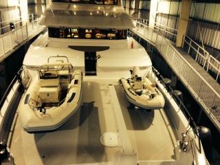 Novurania yacht tenders on the Aurora.