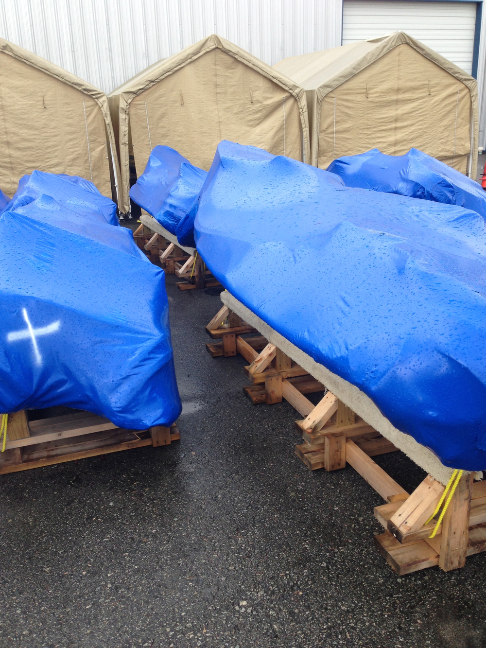 Just delivered inflatable boats