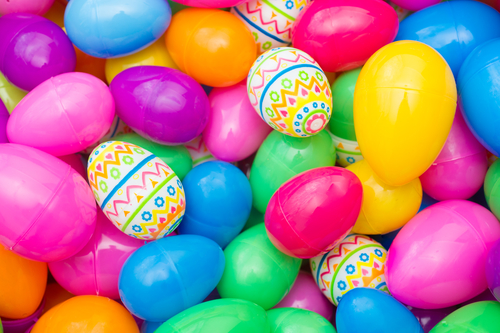 Collecting Candy And Easter Eggs