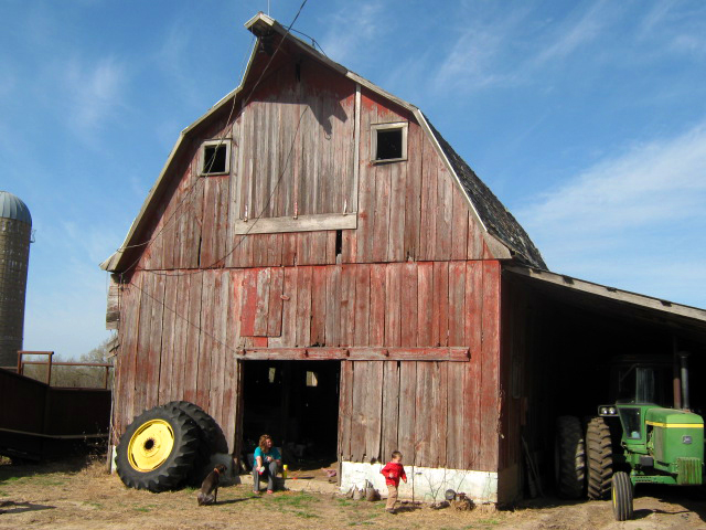 Belton Farms, est. 1870, historic big red barn in KS
