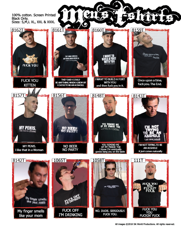 Sik World Catalog 2015 Mens T-shirts
